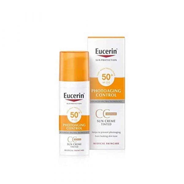 """Eucerin Photoageing Control CC Sun Cream Tinted SPF50+ 50ml """